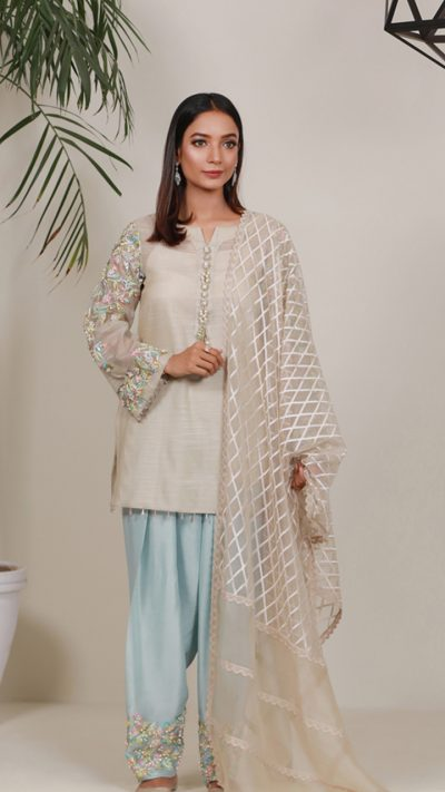 SUMMER ORCHARD COOLWATER PRET by Faiza Saqlain - chambeili Bridal