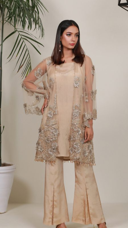 SUMMER ORCHARD GOLDEN PEARL PRET by Faiza Saqlain - chambeili Bridal