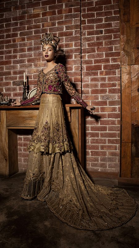 REGAL DAWN JEWEL WONDER BRIDAL by Faiza Saqlain - chambeili Bridal