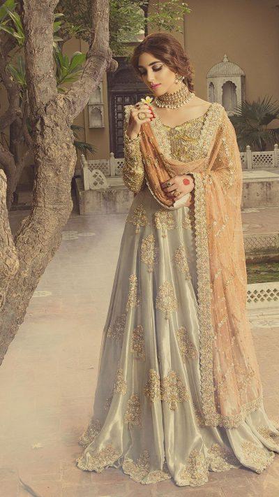 HEER CHAAR CHARAGH (Sunflower) Bridal by Faiza Saqlain - chambeili Bridal