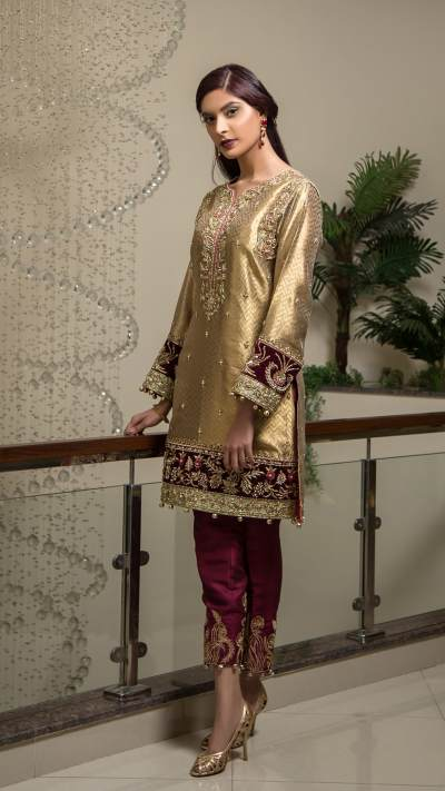 HA-08 HAMZA ANWAR LUXURY PRÉT 2018 VOL I - chambeili Bridal