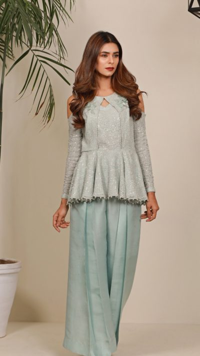 SUMMER ORCHARD OCEAN BREEZE PRET by Faiza Saqlain - chambeili Bridal