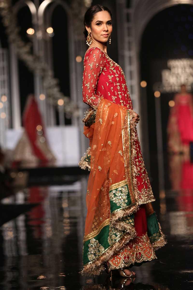 SHEHNAI GEET FORMAL #PanteneHumBridalCoutureWeek - chambeili Bridal