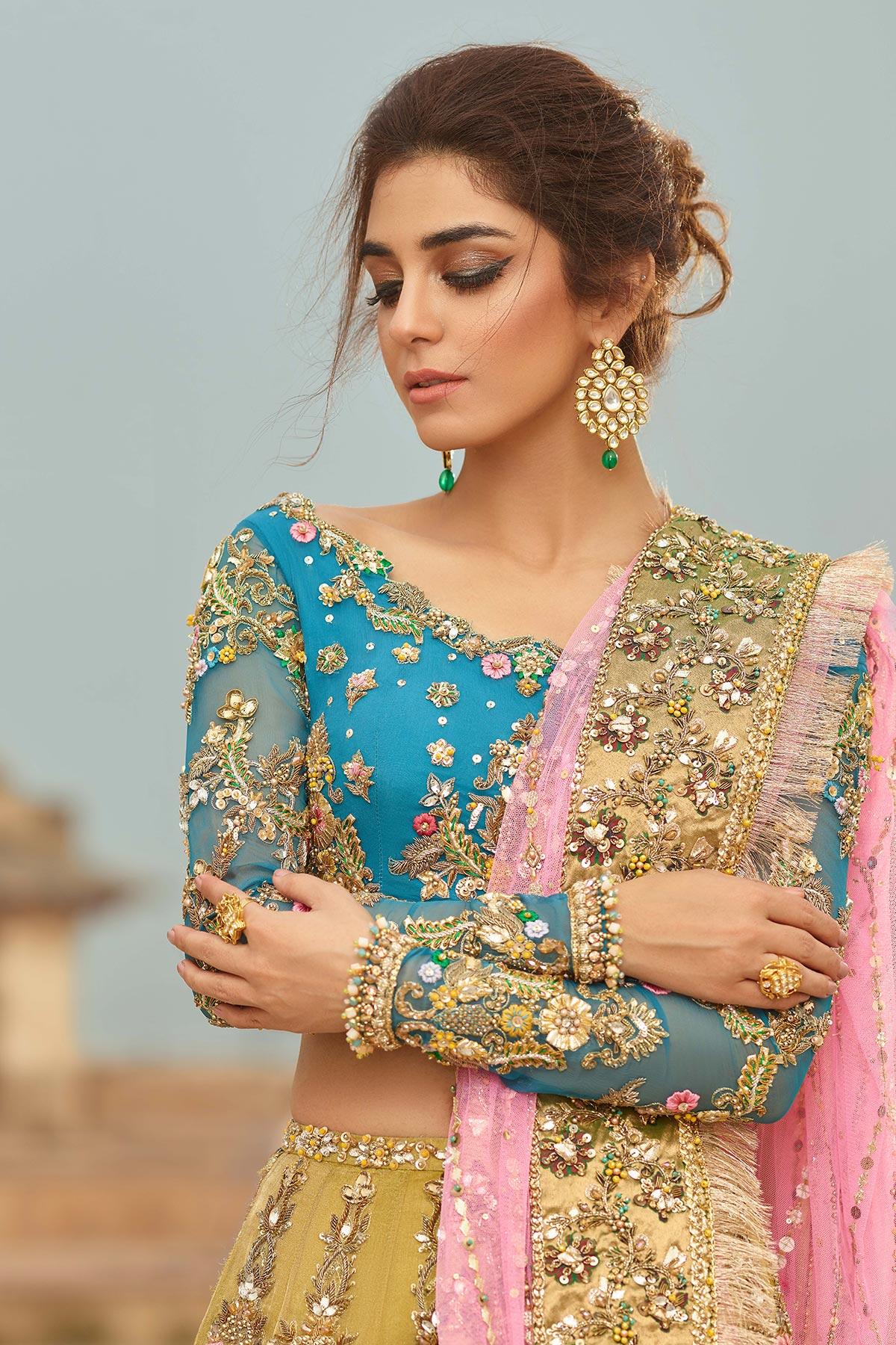 SHEHNAI GULBAHAR BRIDAL #PanteneHumBridalCoutureWeek - chambeili Bridal