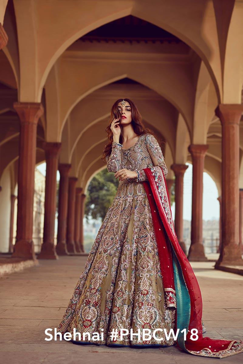 Shehnai by Faiza Saqlain - chambeili Bridal