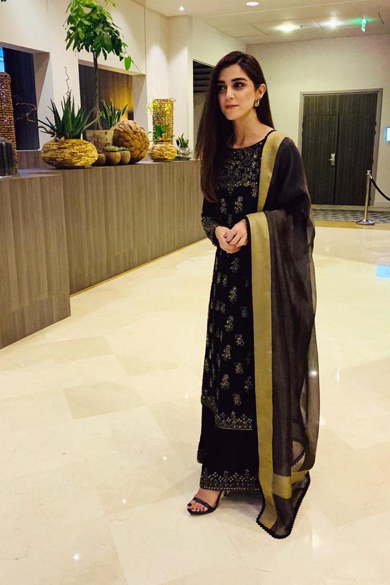 CELBRITY BLACK GOLD CULOTTE ENSEMBLE PRET by Faiza Saqlain - chambeili Bridal