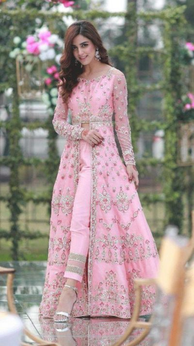 CELEBRITY ZINNIA GOWN ENSEMBLE PRET by Faiza Saqlain - chambeili Bridal