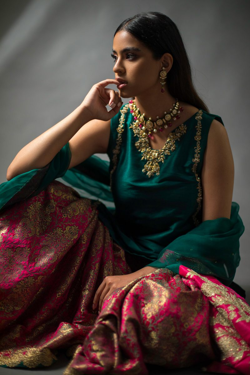 NOUSHA Royal Brocade Occasion Wear 2019 by Zonia Anwaar - chambeili Bridal