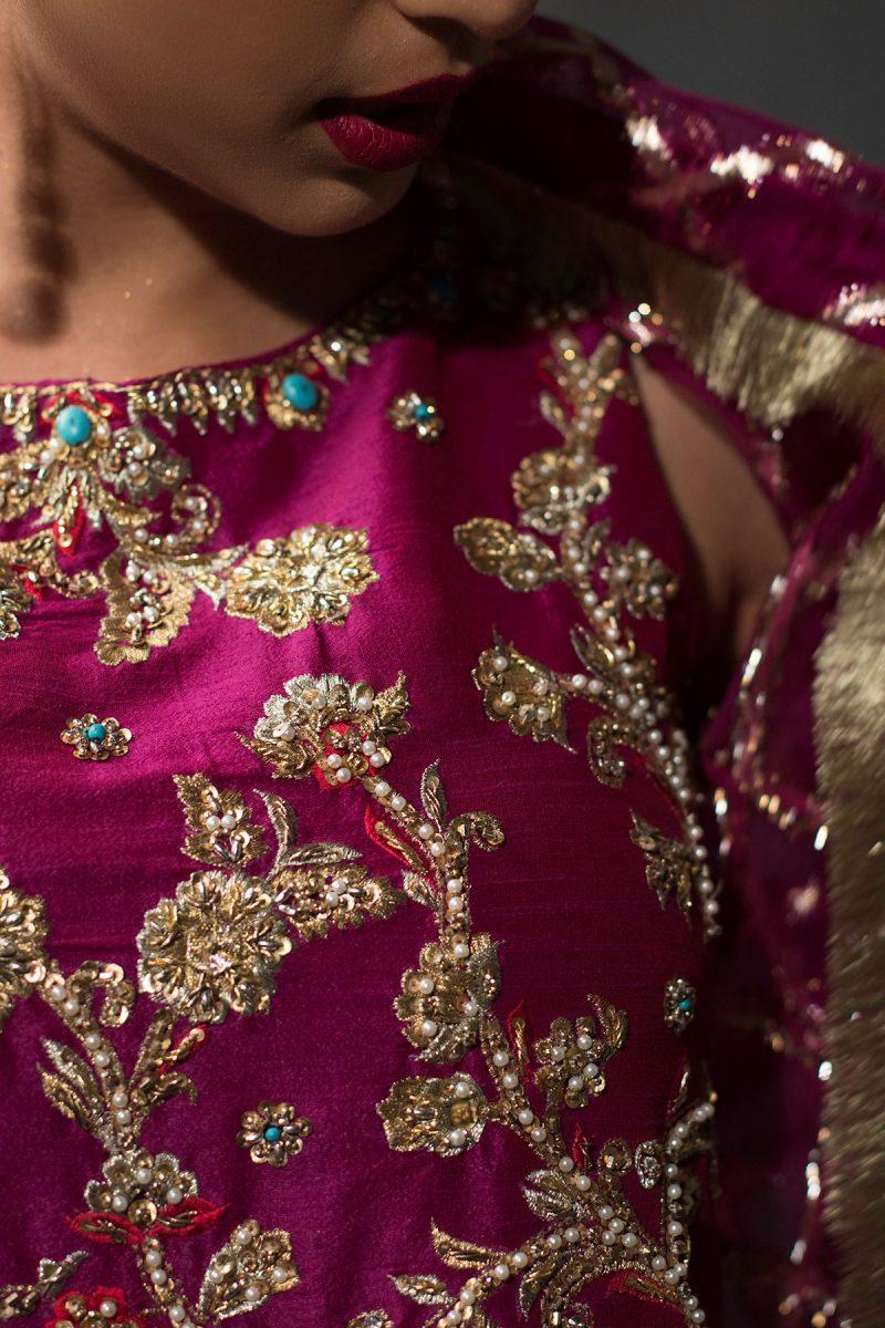 NOUSHA Resplendent Magenta Occasion Wear 2019 by Zonia Anwaar - chambeili Bridal