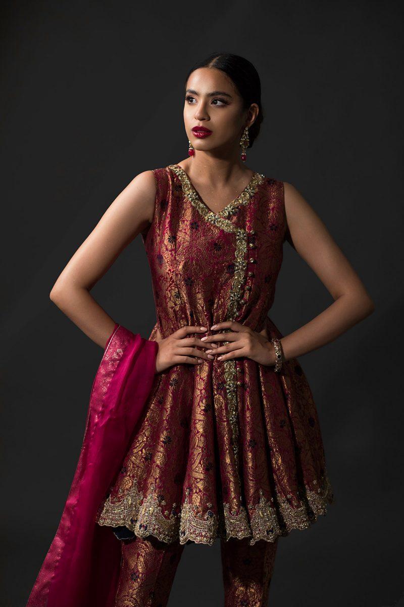 NOUSHA Regal Angrakha Occasion Wear 2019 by Zonia Anwaar - chambeili Bridal