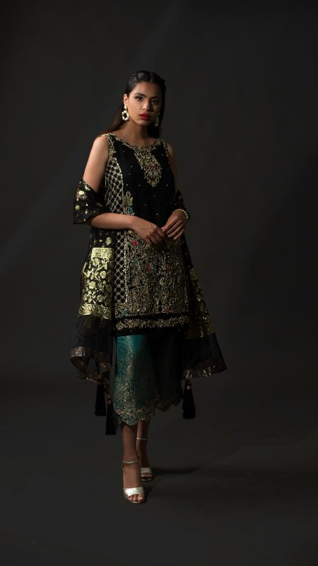 NOUSHA Timeless Black Occasion Wear 2019 by Zonia Anwaar - chambeili Bridal