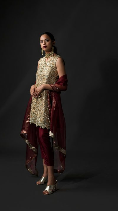 NOUSHA Glorious Gold Occasion Wear 2019 by Zonia Anwaar - chambeili Bridal