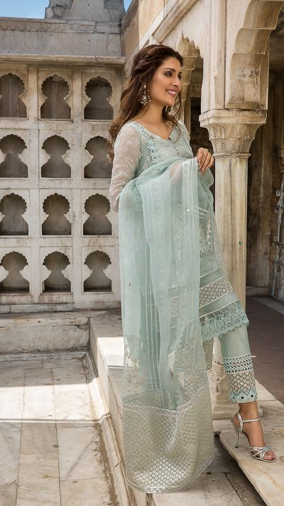 MOGRA MIRHA FORMAL WEAR by Faiza Saqlain - chambeili Bridal