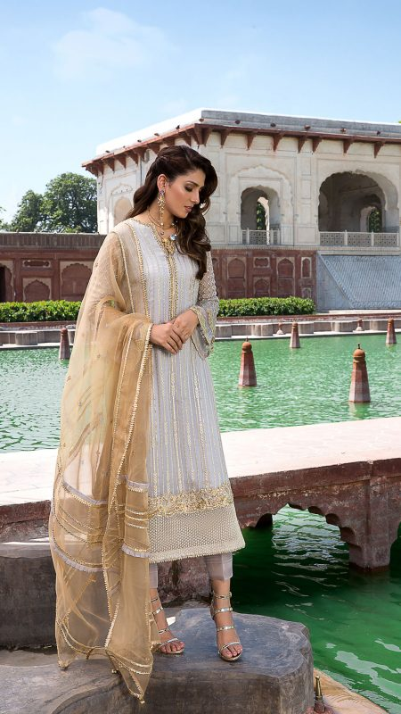 MOGRA SANAM FORMAL WEAR by Faiza Saqlain - chambeili Bridal