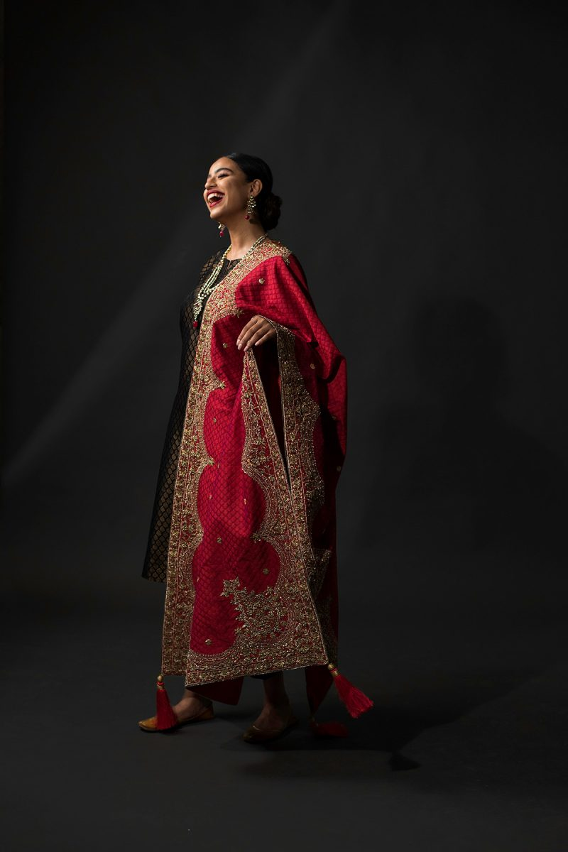 NOUSHA Midnight Blue Kimkhaab Occasion Wear 2019 by Zonia Anwaar - chambeili Bridal