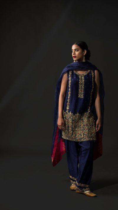 NOUSHA Cobalt Blue Occasion Wear 2019 by Zonia Anwaar - chambeili Bridal