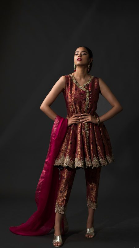 NOUSHA Regal Angrakha Occasion Wear 2019 by Zonia Anwaar - chambeili Bridal