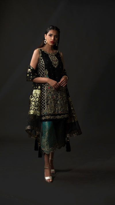 NOUSHA Timeless Black Occasion Wear 2019 by Zonia Anwaar - chambeili Bridal