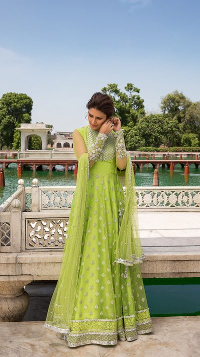 MOGRA NISA PISHWAS FORMAL WEAR by Faiza Saqlain - chambeili Bridal